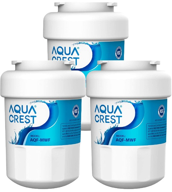 AQUACREST MWF Compatible with GE SmartWater MWFP, MWFA, GWF, HDX FMG-1, WFC1201, GSE25GSHECSS, PC75009