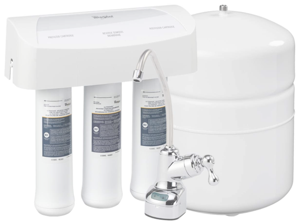 Whirlpool WHER25 With Chrome Faucet   Extra Long Life   Easy To Replace UltraEase Filter Cartridges