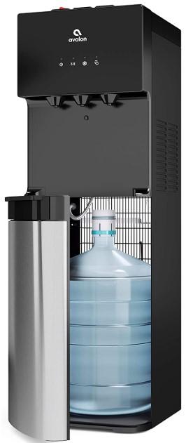Avalon A4BLWTRCLR 3 or 5 gallon bottle, Stainless Steel & Black