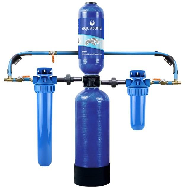 Aquasana- Filters Sediment & 97% Of Chlorine - Carbon & KDF Home Water Filtration - EQ-1000, 10 Yr, 1 Million Gl