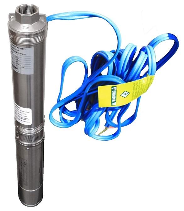 "Hallmark Industries MA0414X-7A 1 hp, 230V, 60 Hz, 30 GPM, 207' Head, Stainless Steel, 4"""