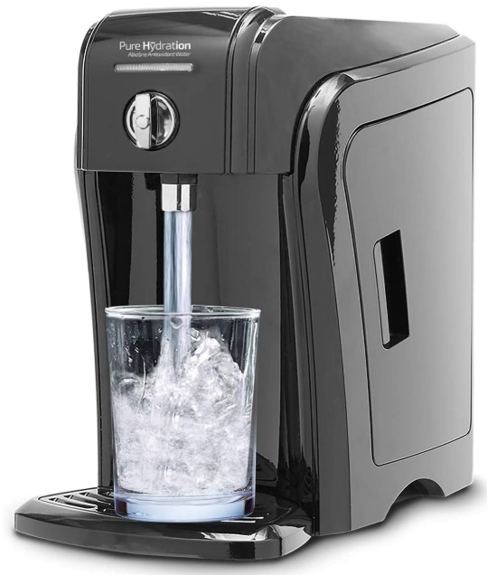 Pure Hydration Alkaline Water Machine, World's Only Affordable All-Natural Alkaline Antioxidant, Hydrogen, Ultra Removes Lead, Arsnic, Viruses, Boost Your Immunity