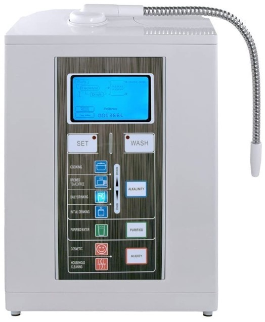 Aqua Ionizer Deluxe 7.0, Water Ionizer, Alkaline Water Filtration System, Produces pH 4.5-11.0, Up to -800mV ORP, 4000 Liters, 7 Water Settings