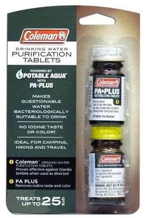 Coleman Potable Aqua with PA Plus Chemical Treats 25 qts