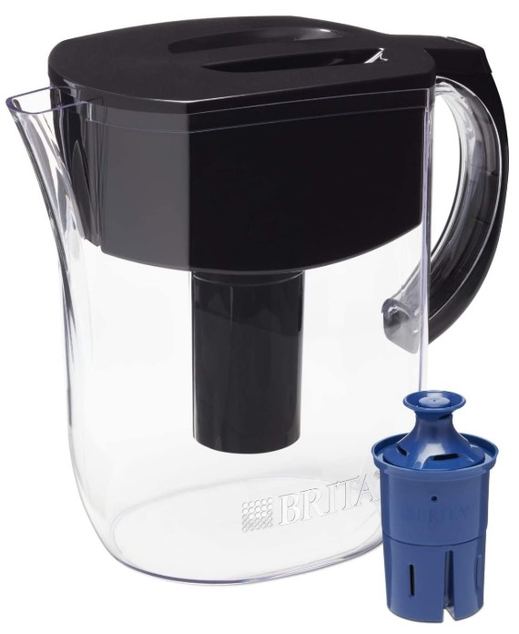 Brita with 1 Longlast Filter, Large 10 Cup, Black