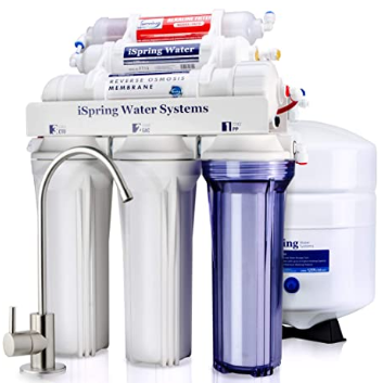 iSpring RCC7AK-UV 75GPD 7-Stage Under Sink  Drinking System with Alkaline Remineralization and UV Ultraviolet