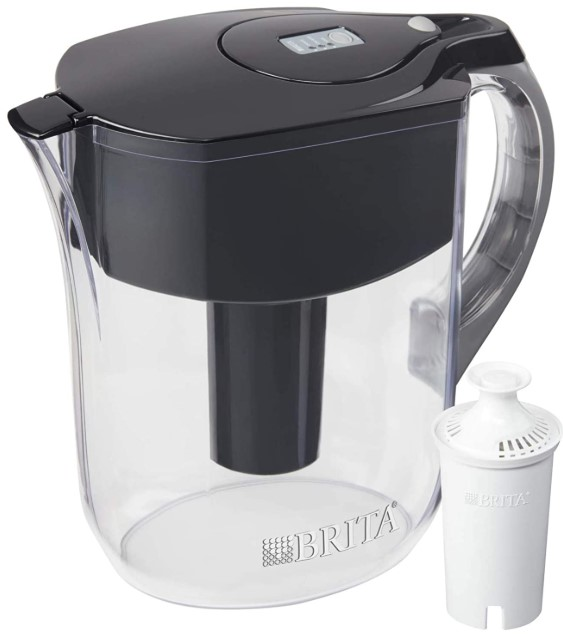 Brita Grand with 1 Filter, Large 10 Cup, Black